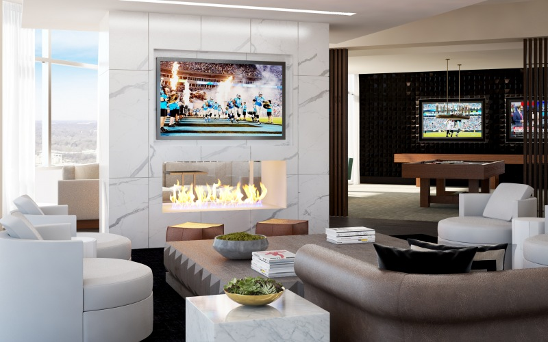 Clubhouse media room